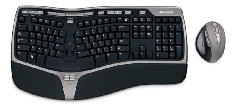 Un ensemble clavier/souris vulnérable à des attaques sans fil.